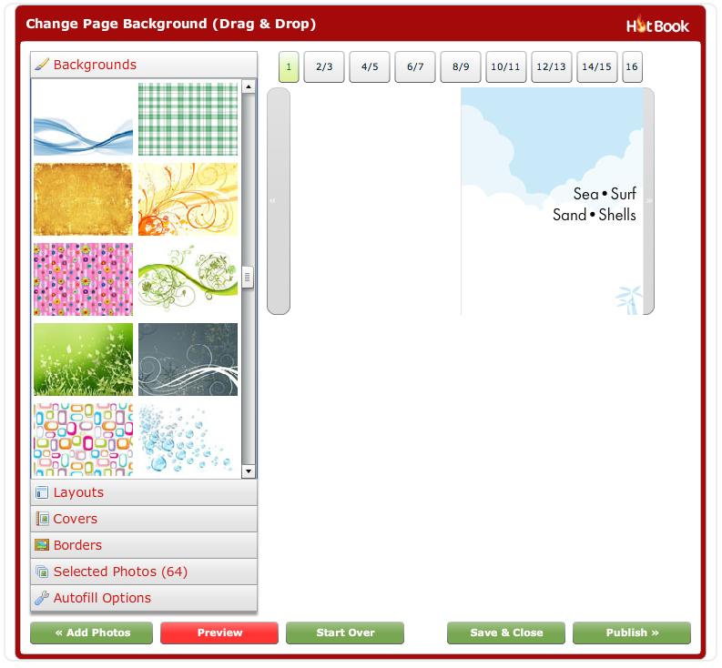 HotBook interface 1