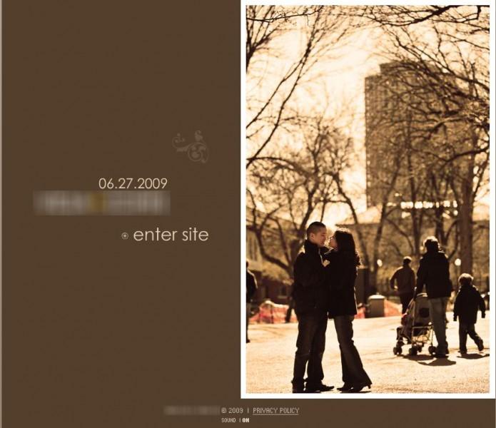 Wedding Website landing page