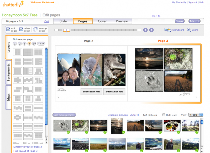 Shutterfly book making software