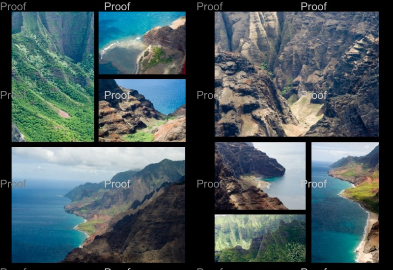 Travel Photo Books Layout na pali aerial shots