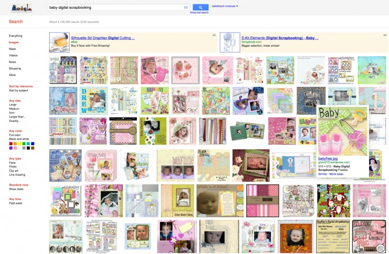 Googling for scrapbooking