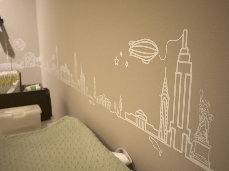 Travel themed baby's room