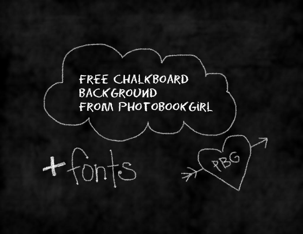 free digital scrapbooking chalkboard background
