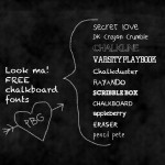 my favorite chalkboard fonts