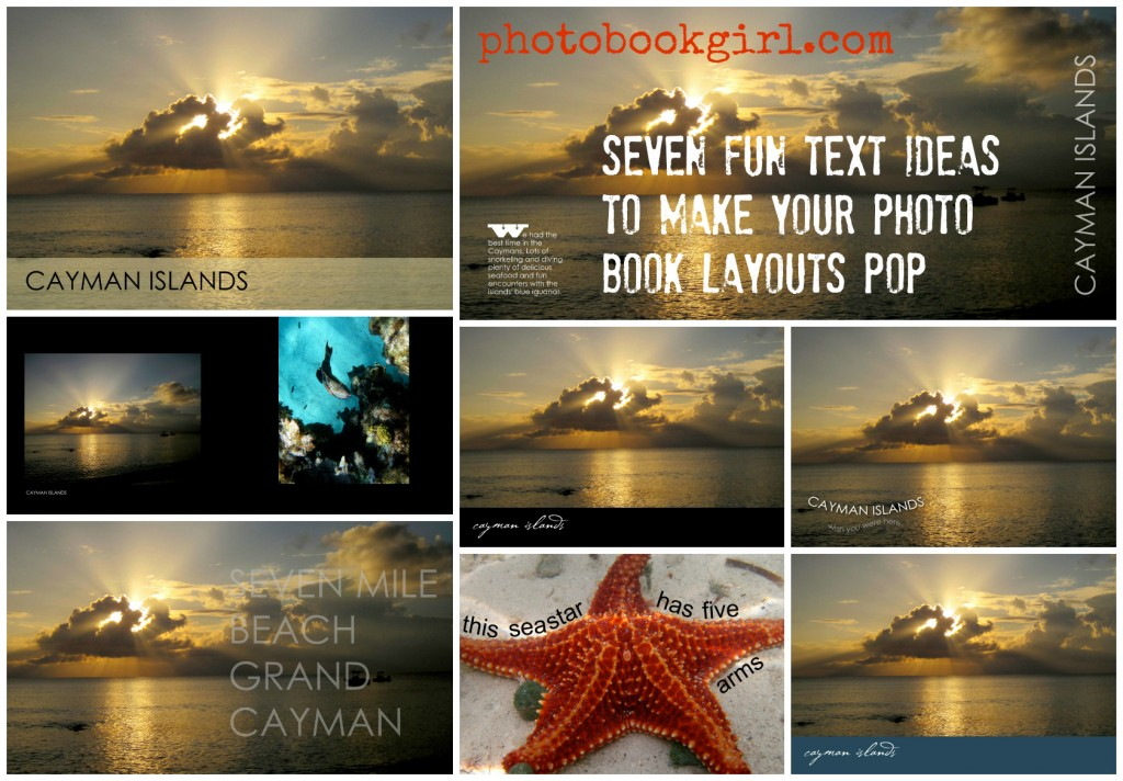 seven fun text ideas to make your photo book layouts pop