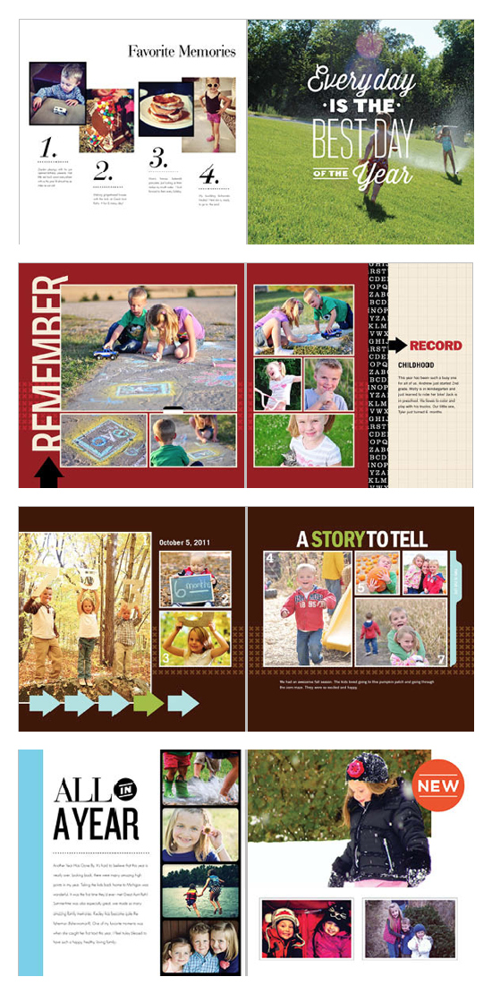 Shutterfly Photo Book Themes