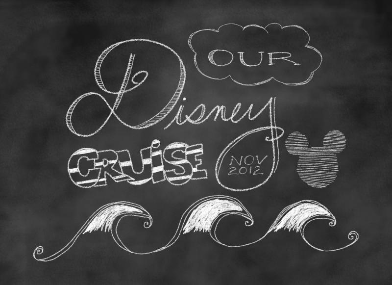 Disney Cruise Chalkboard Doodle Mickey