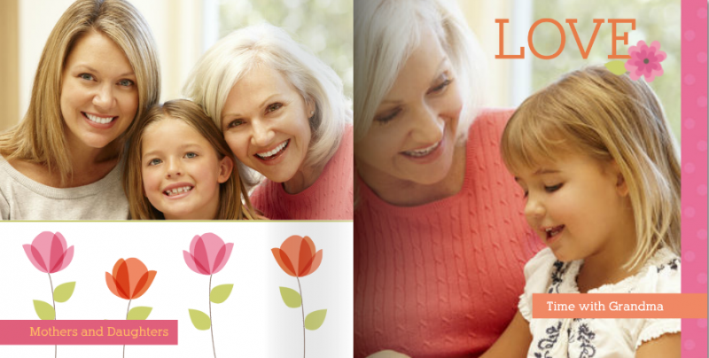 Bold Mother's Day Florals theme from Mixbook.