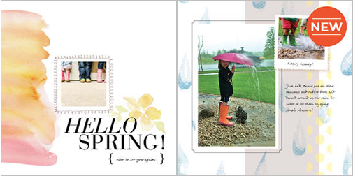 Hello Spring theme from Shutterfly.