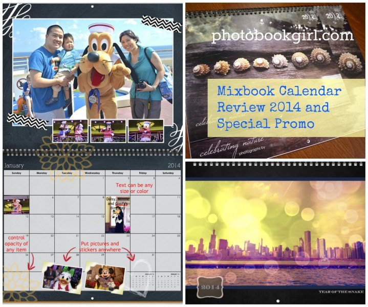 Calendar collage title