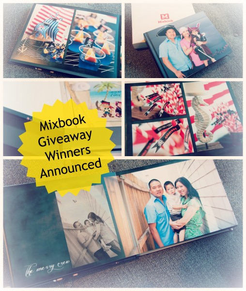 Mixbook lay flat giveaway winners