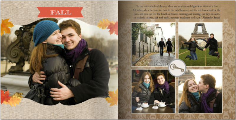Mixbook year in review photo book layout