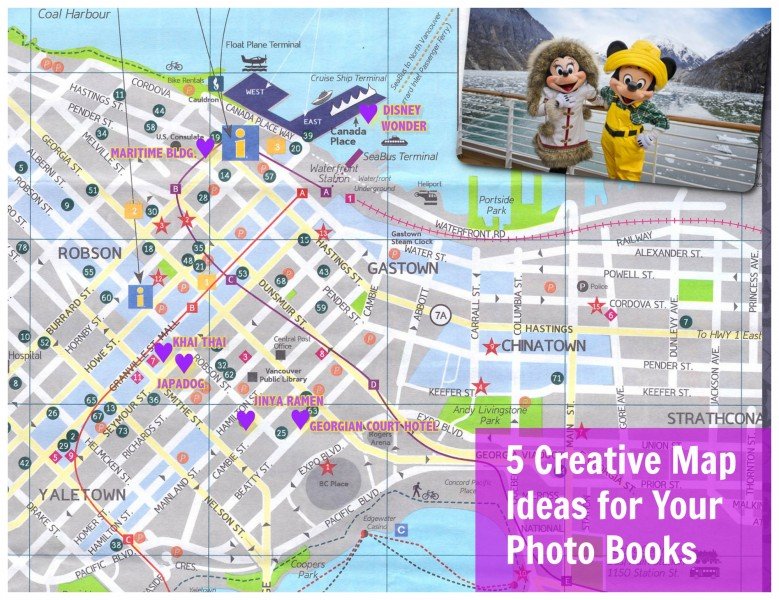 Photo Book Girl custom map vancouver