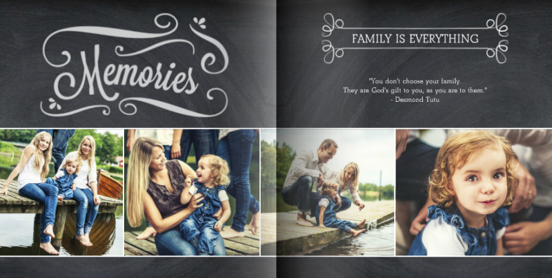 Everyday Chalkboard theme by Mixbook.