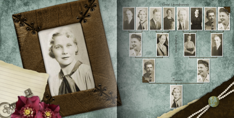 Family History theme by Mixbook.
