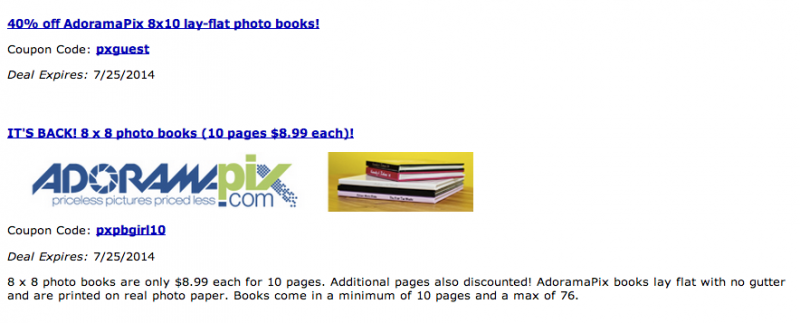 AdoramaPix coupon codes 2014