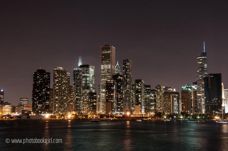 Chicago Skyline Photo Book Girl