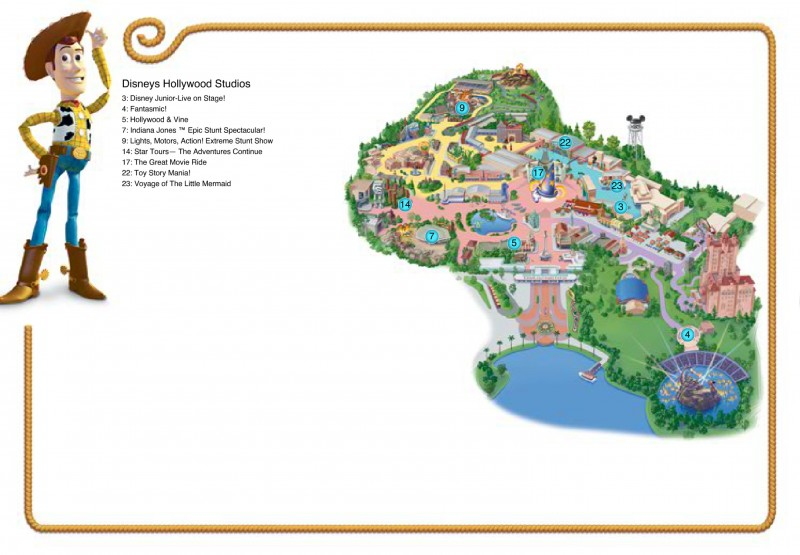 Free downloadable customized Disney maps
