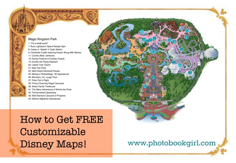 custom Disney maps