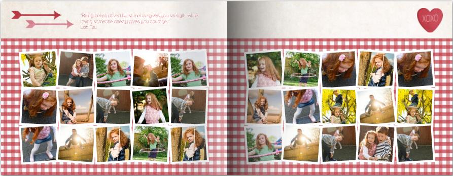 Mixbook Valentine's Day photo book