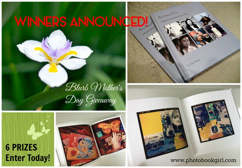 Blurb photo books Mothers Day WINNERS