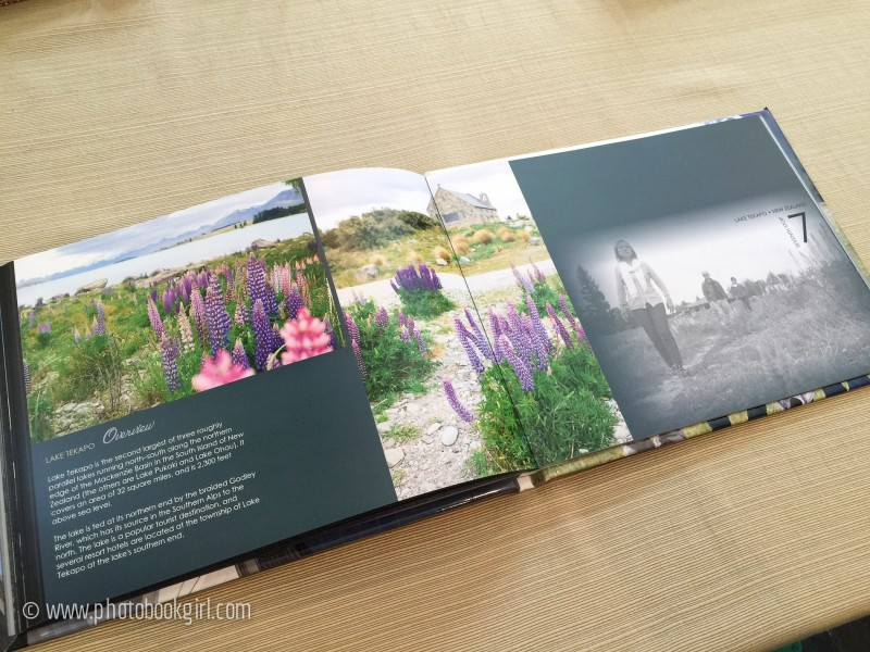 Lake Tekapo New Zealand photo book layout