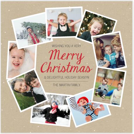 Mixbook Holiday custom photo cards