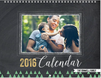 Chalkboard Year - Mixbook calendar
