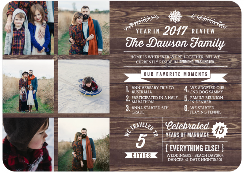 Mixbook year in review card