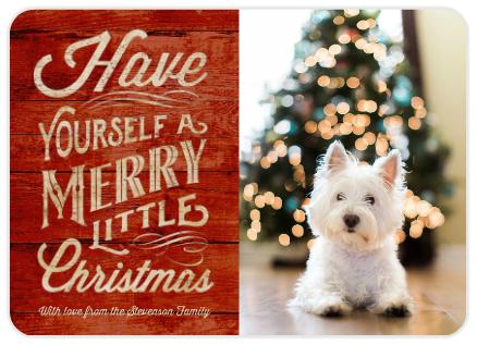 Mixbook custom photo Christmas card