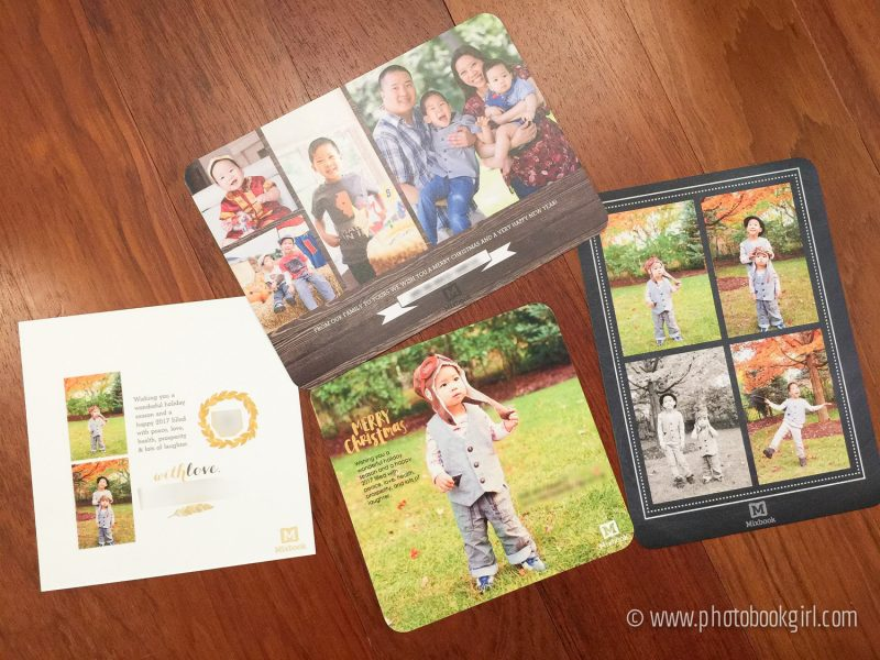 Photo Book Girl Review custom Holiday Cards