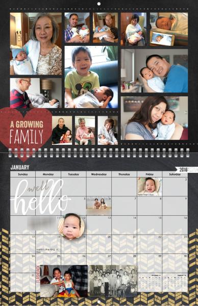 photo calendar layouts