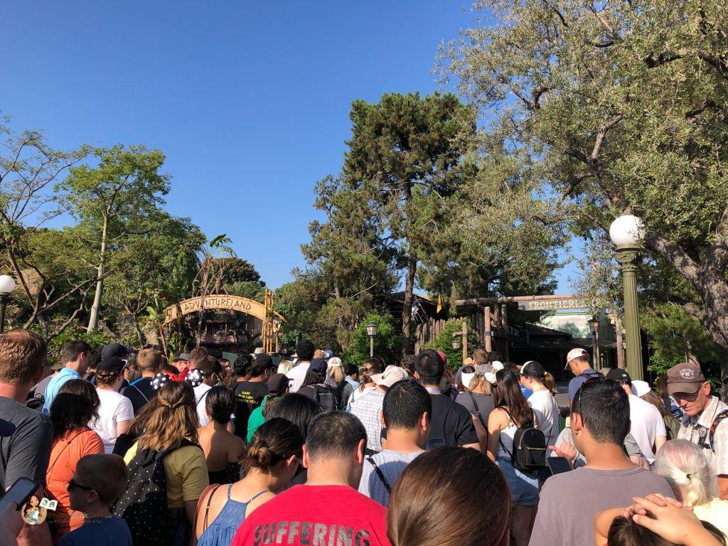 Rope Drop at Frontierland Disneyland Galaxy's Edge