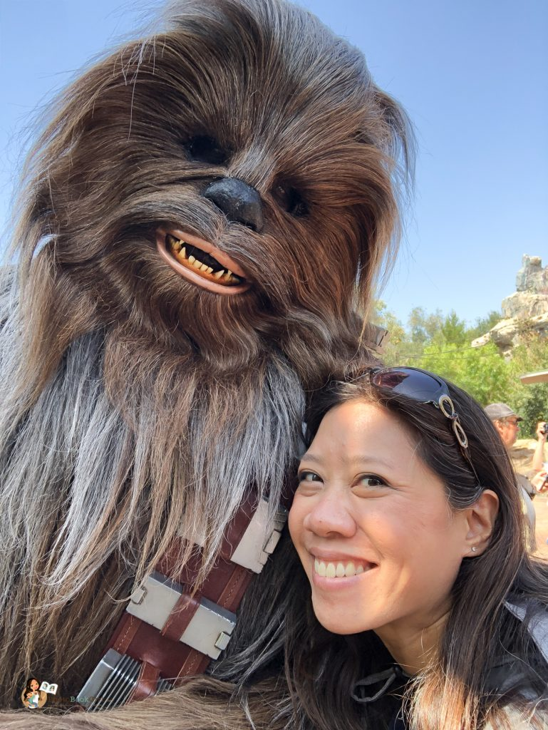 Selfie with Chewbacca at Galaxy's Edge